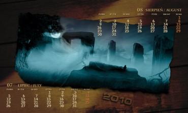 Kalendarz 2010 lipiec sierpień