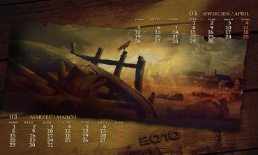 Kalendarz 2010 marzec kwiecień