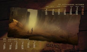 Kalendarz 2010 wrzesień październik