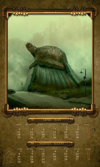 Kalendarz 2011 lipiec sierpień