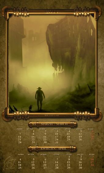 Kalendarz 2011 marzec kwiecień