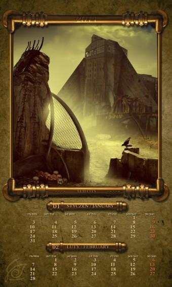 Kalendarz 2011 styczeń luty