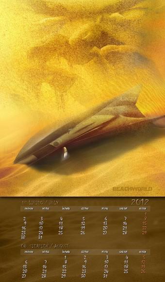 Kalendarz 2012 lipiec sierpień