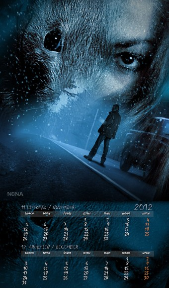Kalendarz 2012 listopad grudzień