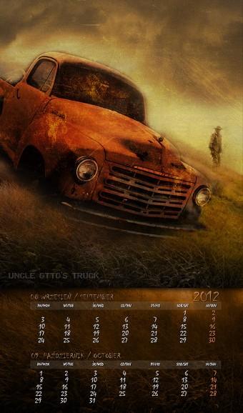 Kalendarz 2012 wrzesień październik