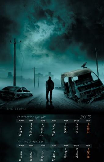 Kalendarz 2013 styczeń luty