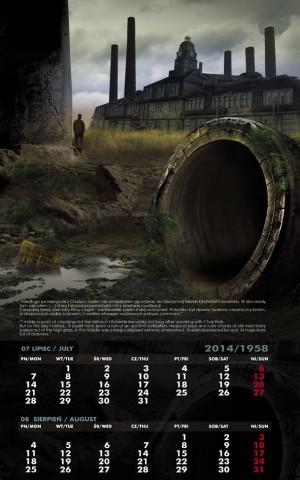 Kalendarz 2014 lipiec sierpień