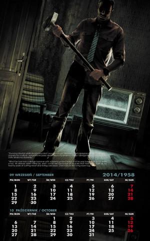 Kalendarz 2014 wrzesień październik