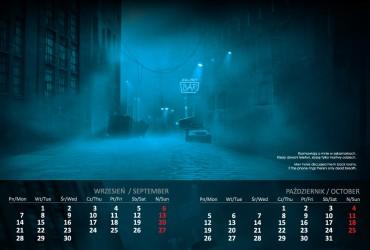 Kalendarz 2015 wrzesień październik