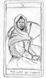 Powołanie trójki – karta tarota – szkic