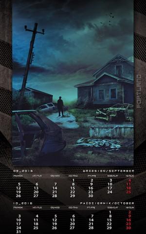 Kalendarz 2016 wrzesień październik