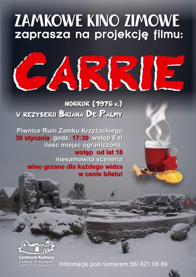 Centrum Kultury Zamek Krzyżacki - Zamkowe Kino Zimowe - Carrie