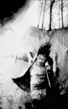 Stukostrachy ilustracja czarno-biała 1