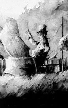 Stukostrachy ilustracja czarno-biała 2