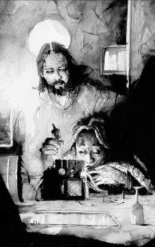 Stukostrachy ilustracja czarno-biała 4