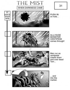 The Mist storyboard