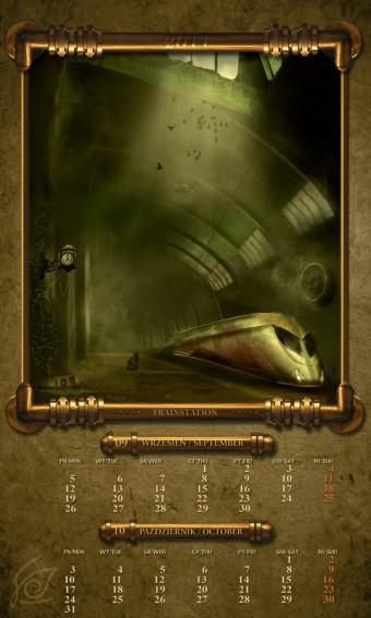 Kalendarz 2011 wrzesień październik