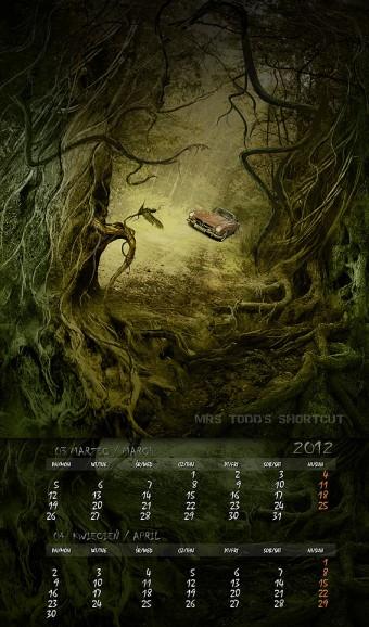 Kalendarz 2012 marzec kwiecień