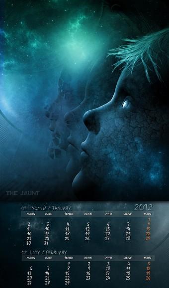Kalendarz 2012 styczeń luty