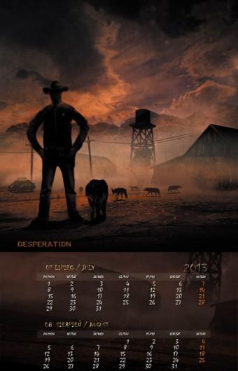 Kalendarz 2013 lipiec sierpień
