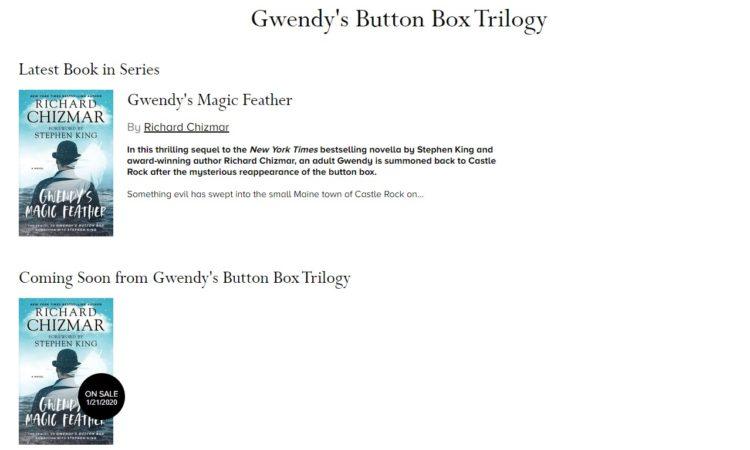 Gwendy's Button Box Trilogy